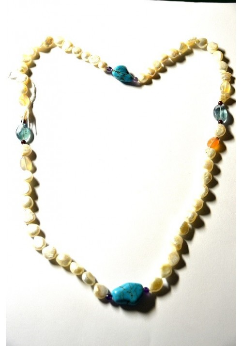 Necklace with Pearls and Turquoise